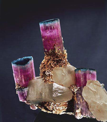"The ""Candelabra"" Tourmaline  was mined in 1972 by Bill Larson at the Tourmaline Queen Mine in San Diego County's Pala District. It now is on public display at the Smithsonian Institution in Washington, DC. (Photo: Harold & Erica Van Pelt)"