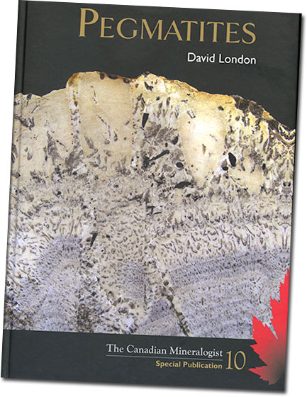 "David London's 2008  Pegmatites  goes for a premium now, if you can locate a copy. Try contacting  the publisher . Here's what distributor Lithographie had to say about it: ""London's book gives us an excellent and thorough review of the current state of the art in pegmatite studies. In Part I, Geology, London provides a primer on the mineralogy, geology, and classification of pegmatites. But the center of gravity of this treatise is in Part II, Origins, which consolidates London's petrological model of internal pegmatite evolution, and compares it with other concepts."""