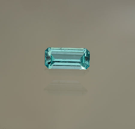 "This 1.05-carat ""emeralite"" tourmaline was cut by John Sinkankas, for whom this month's  symposium  was named. And he found it, too, on the dump by the Ware tunnel (Mountain Lily Mine). (Photo: Mia Dixon)"