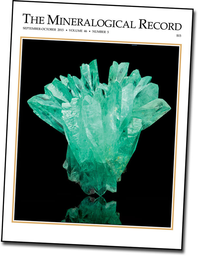 The Inca King is cover star for the Sep–Oct edition of Mineralogical Record (Photo: Augustine de Valence, MIM)