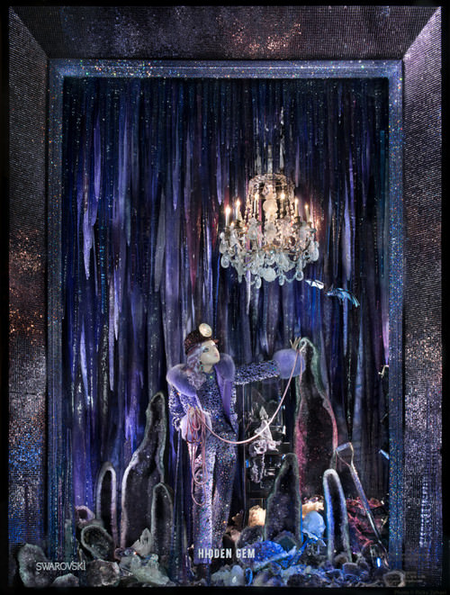 I might.  This window from Bergdorf Goodman on New York's 5th Avenue displays fashion against millions of Swarovski crystals, not to mention amethyst geodes. (Love the miner's helmet.) See images from the rest of the series  here . (Photo: Ricky Zehavi)