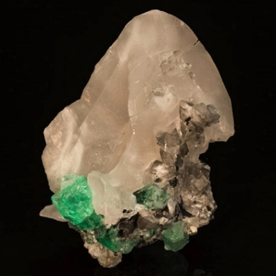 Calcite with Emerald from Columbia