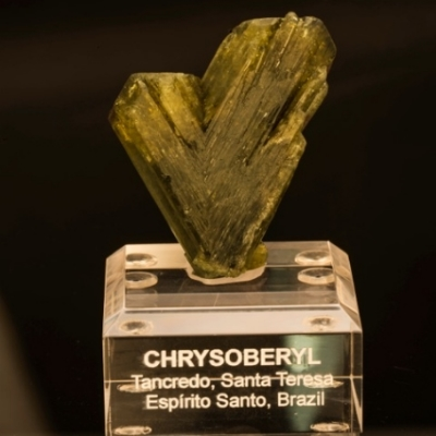 Chrysoberyl Twin from Brazil