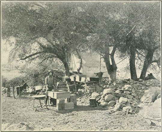 Camp at Pala Chief Mine, San Diego County