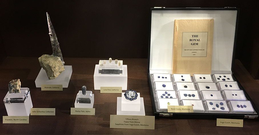 This display includes Bill Larson's copy of The Royal Gem, which we reprinted in 2014.
