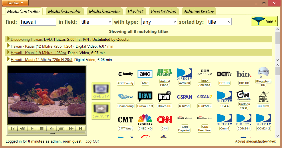 MediaController screenshot