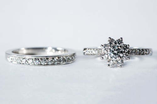 tiffany platinum engagement and wedding ring set - Tiffany Wedding Ring