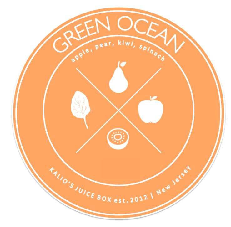 green ocean kiwi spinach pear apple Fresh Juice Kalio Kali Box