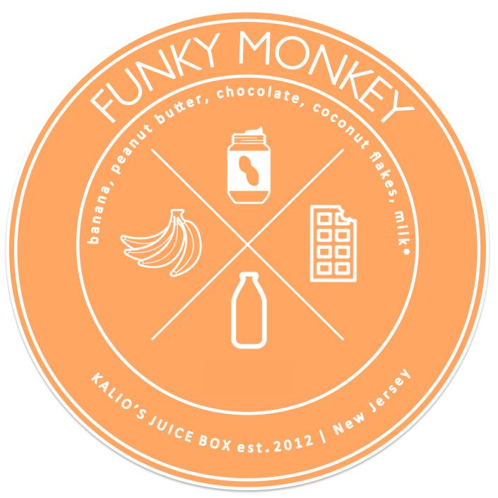 funky monkey peanut butter chocolate banana smoothie Juice Kalio Kali Box