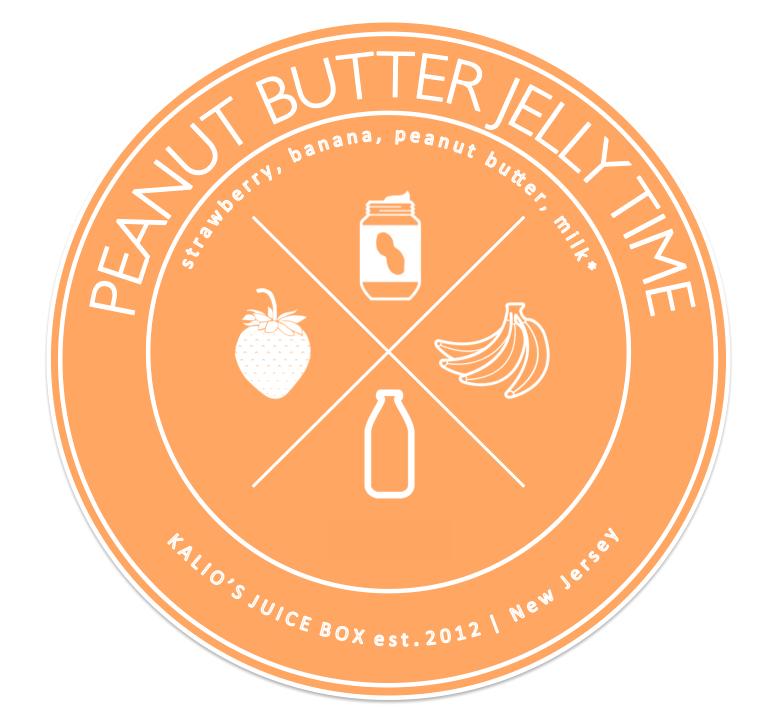 peanut butter jelly strawberry banana smoothie Juice Kalio Kali Box