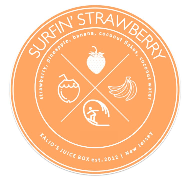surfin strawberry coconut pineapple smoothie Juice Kalio Kali Box
