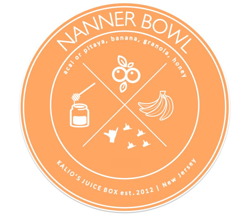Nanner Bowl Banana Acai Pitaya Kali Kalios Juice Box