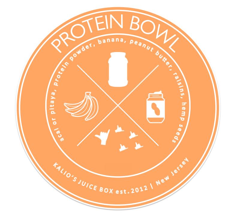 Protein Bowl Banana Acai Pitaya Kali Kalios Juice Box
