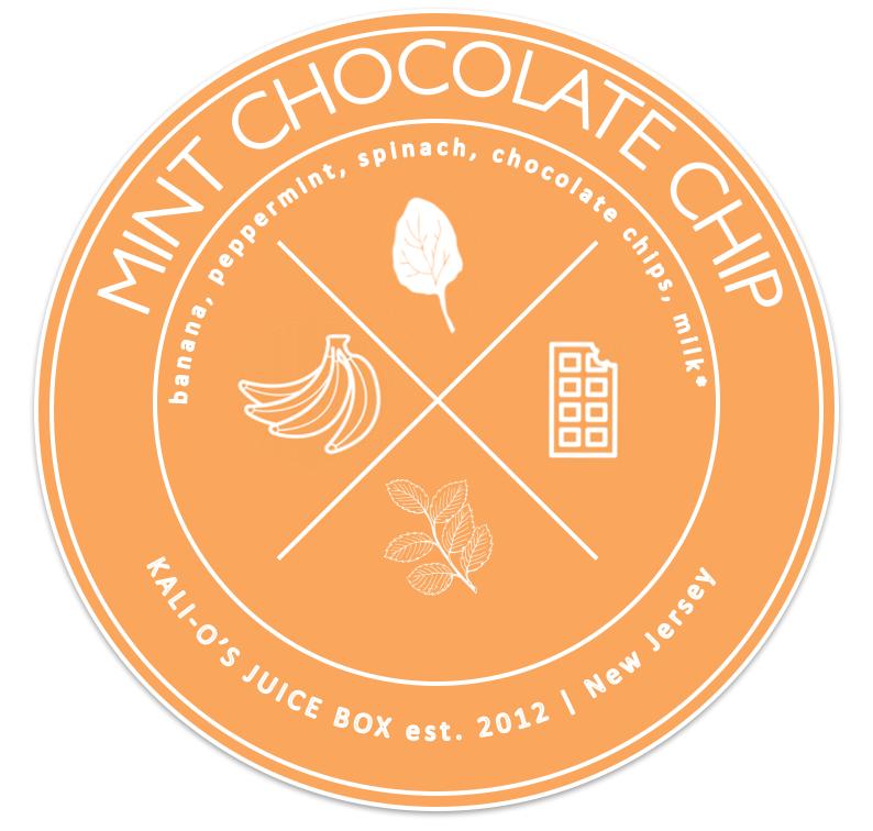 mint chocolate chip vegan shamrock shake smoothie Juice Kalio Kali Box