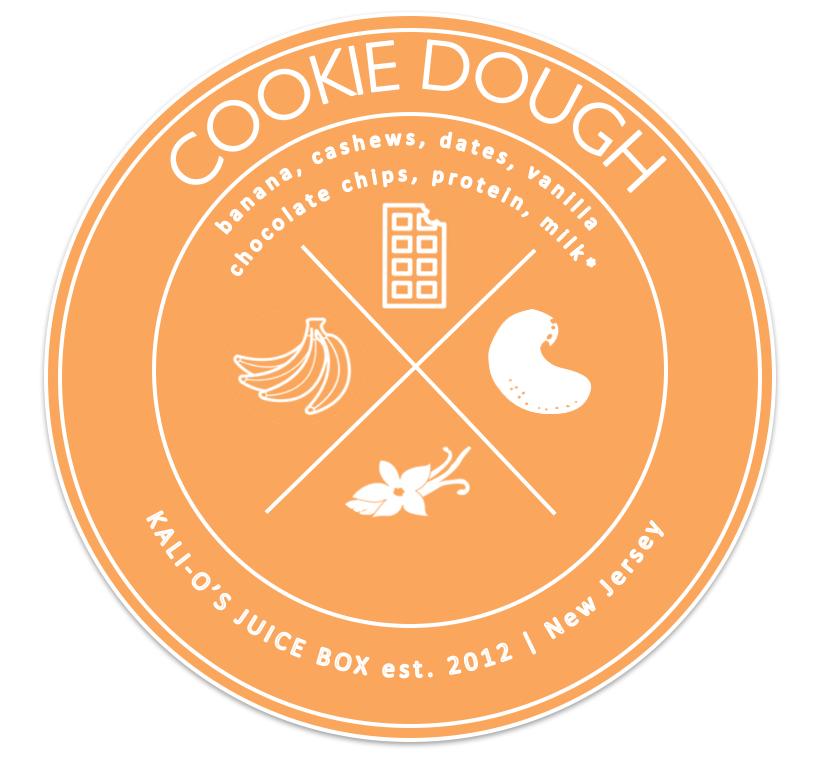 cookie dough banana cashew date vanilla chocolate smoothie Juice Kalio Kali Box