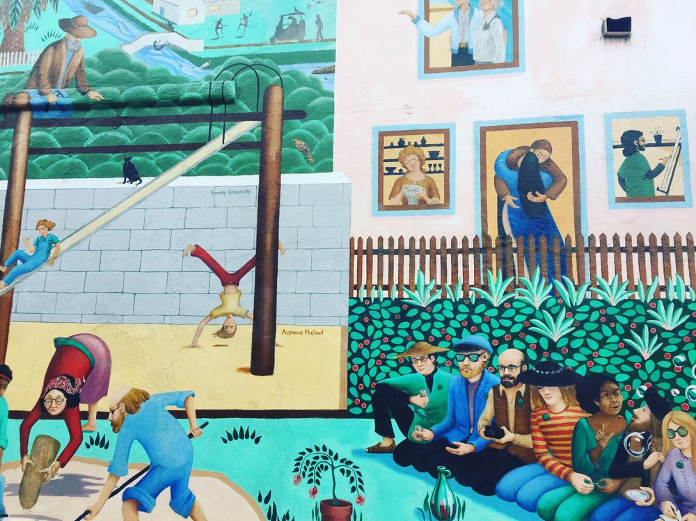 A Venice Beach mural