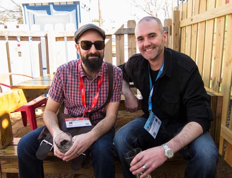 Editors Aaron Wickenden & Jim Hession.at KSFEF SXSW meet up.