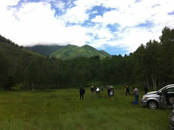 Lab Fellows take a break in the mountains of Sundance.