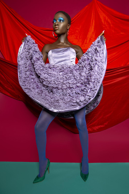 Dress: Donatella Fabio (@donatellafabiocouture)  Shoes: Steve Madden  Earrings: Rings: Majestueux (@majestueux)