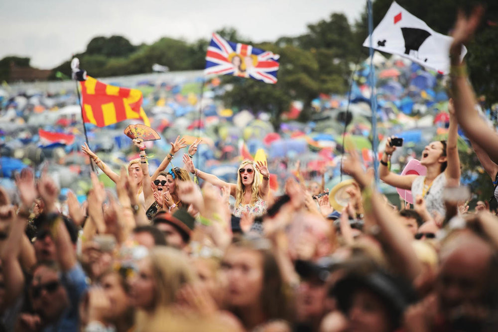 Glastonbury's 2016 headliners were Muse, Adele and Coldplay.