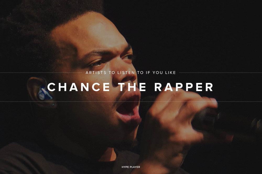 Artists like Chance the Rapper