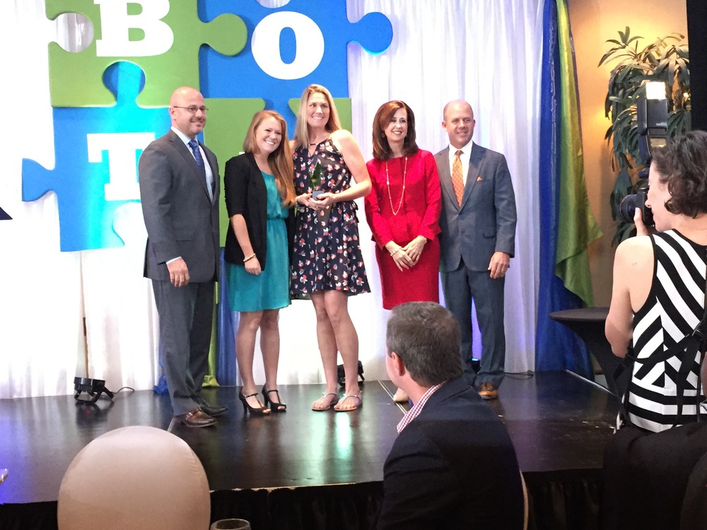 My wife, Shannon Austin, and NS4L's Marketing Manager, Shannon Smith, accepting Overall Small Business of the Year Award from the Gainesville Area Chamber of Commerce in November 2015.