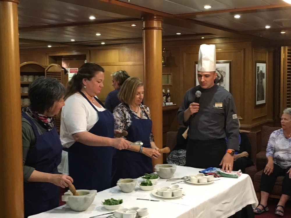 We are getting instructions from the ship's chef.