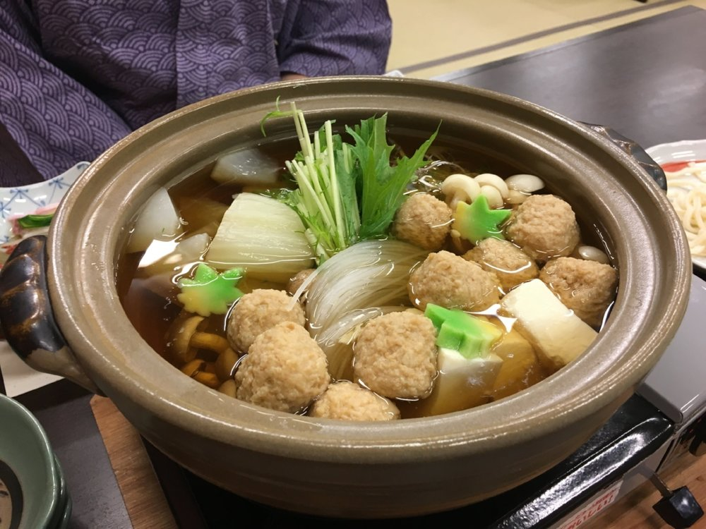One of several hot pots we had - this one with chicken meatballs