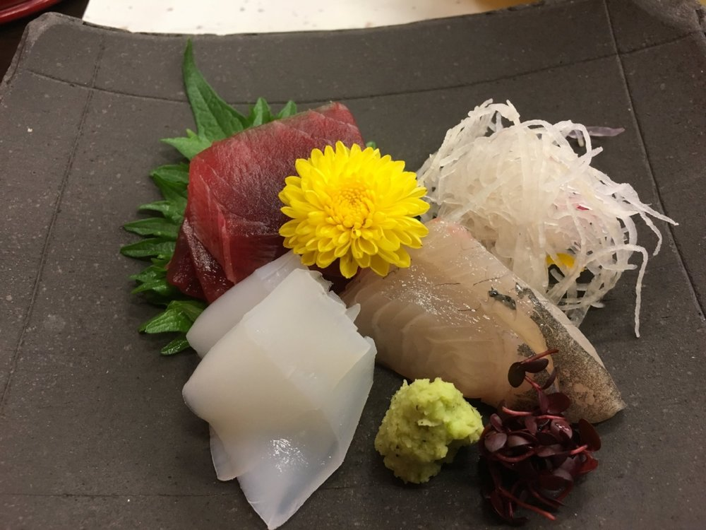 melt-in-your-mouth sashimi course