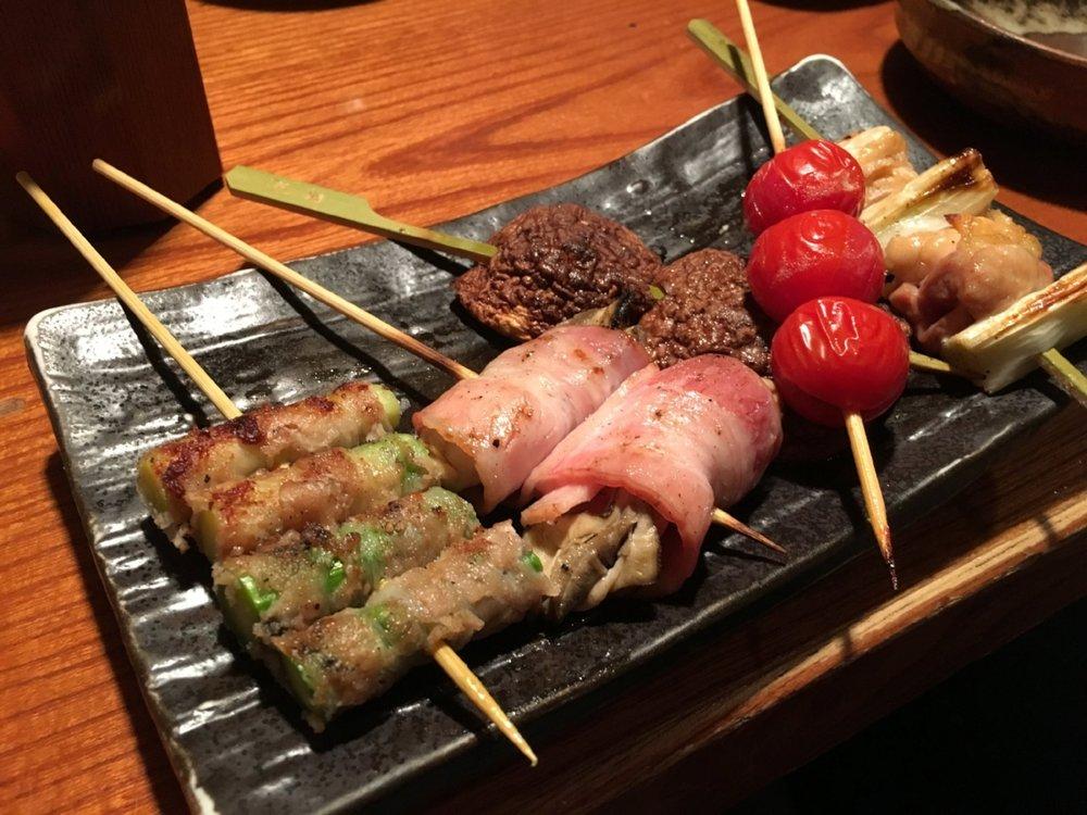 Yakatori appetizer plate