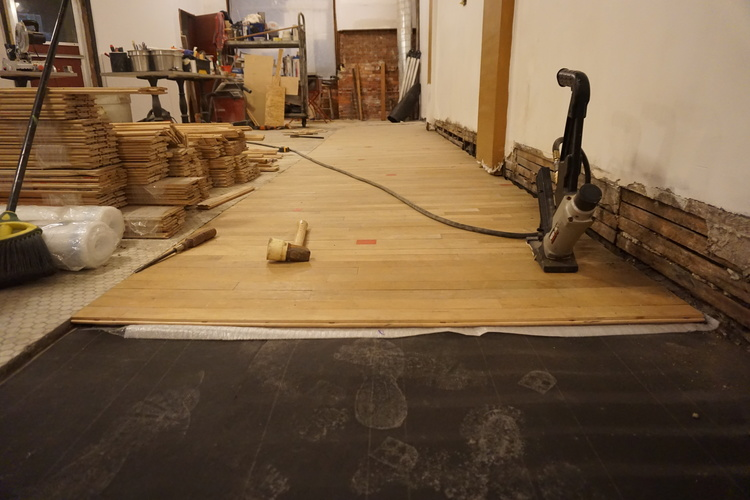Wood Floors Reclaimed Squash Court Bank Suey