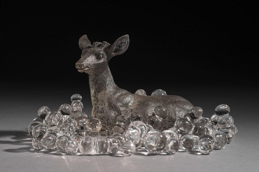 "EPHEMERAL II — Kiln-formed glass, Blown glass. 9.5"" × 9"" × 5"". 2016"