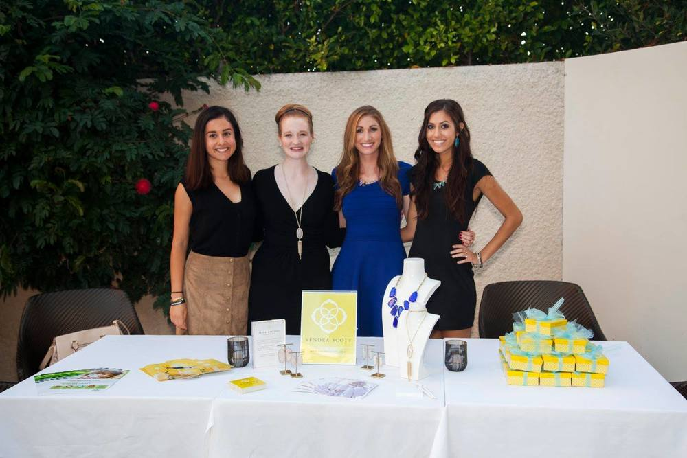 Our very own Susi and Adriana with the ladies of Kendra Scott at the October 2 launch party