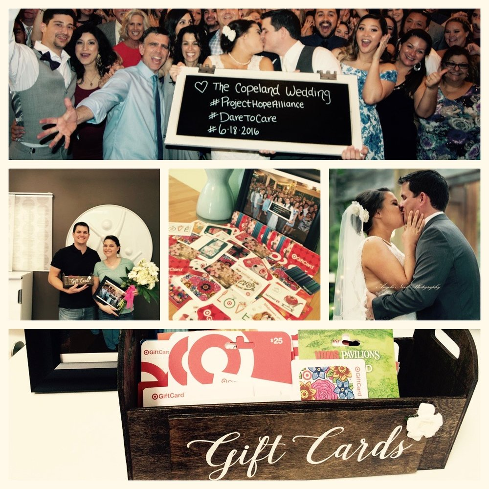 When Tim and Belinda celebrated their wedding, they honored their love for one another—and their love #forthekids. We are enormously grateful for this beautiful couple, who dedicated their wedding day to Project Hope Alliance. In lieu of a traditional registry, they asked their guests to bring gift cards. These generous gifts will be distributed to the families we serve, and through these gifts, each and every extraordinary guest is helping us end the cycle of homelessness, one child at a time.