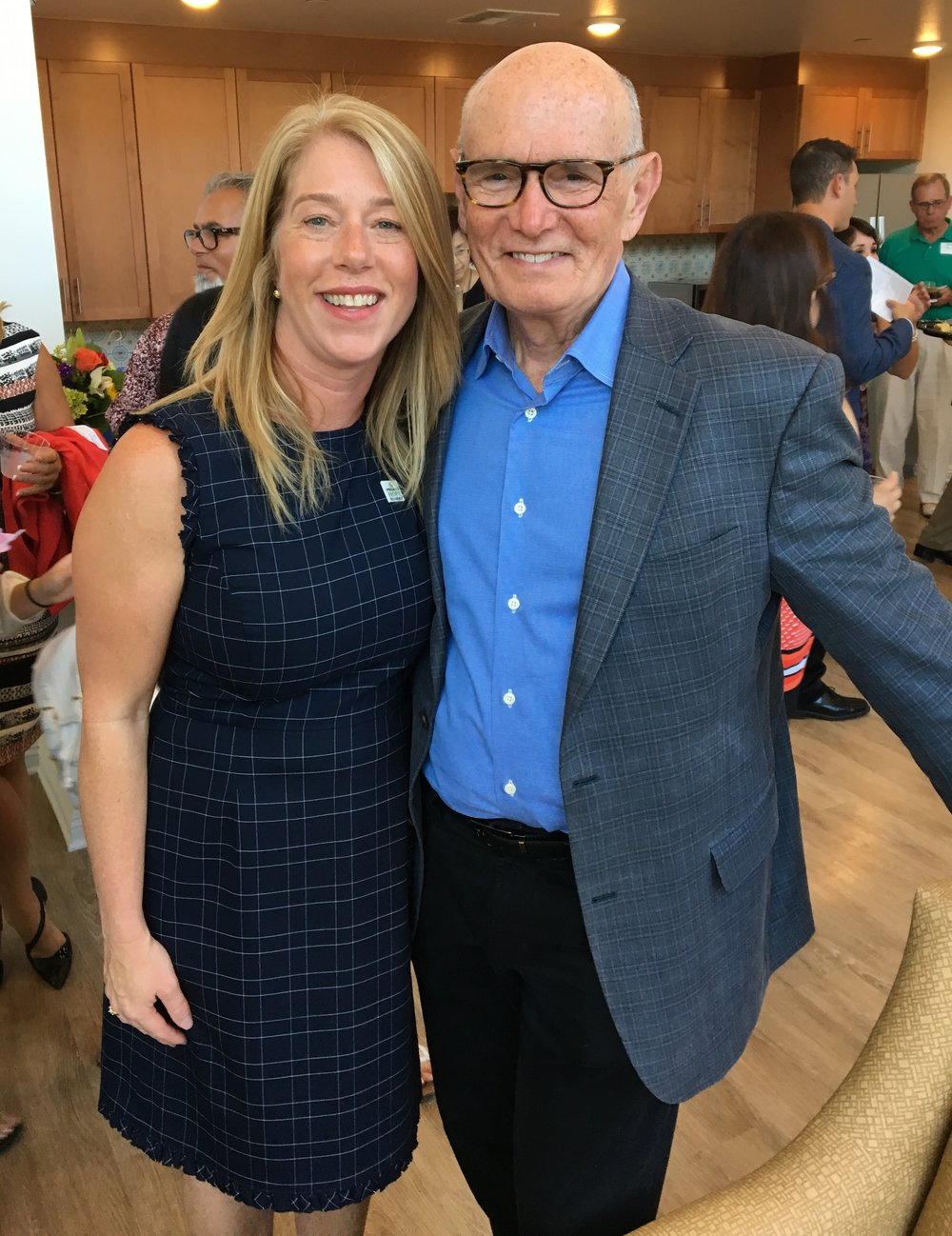 Jennifer Friend, Project Hope Alliance CEO, with George Searcy, Jamboree Housing Corporation Senior Vice President, Community Impact