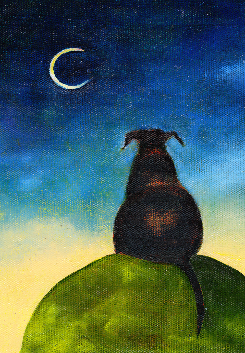 Moon Gazing       Oil on Canvas