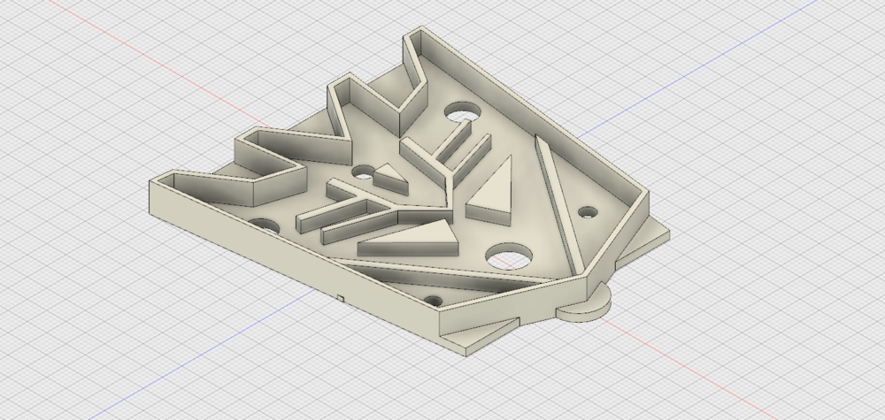 The finished design in Autodesk Fusion 360