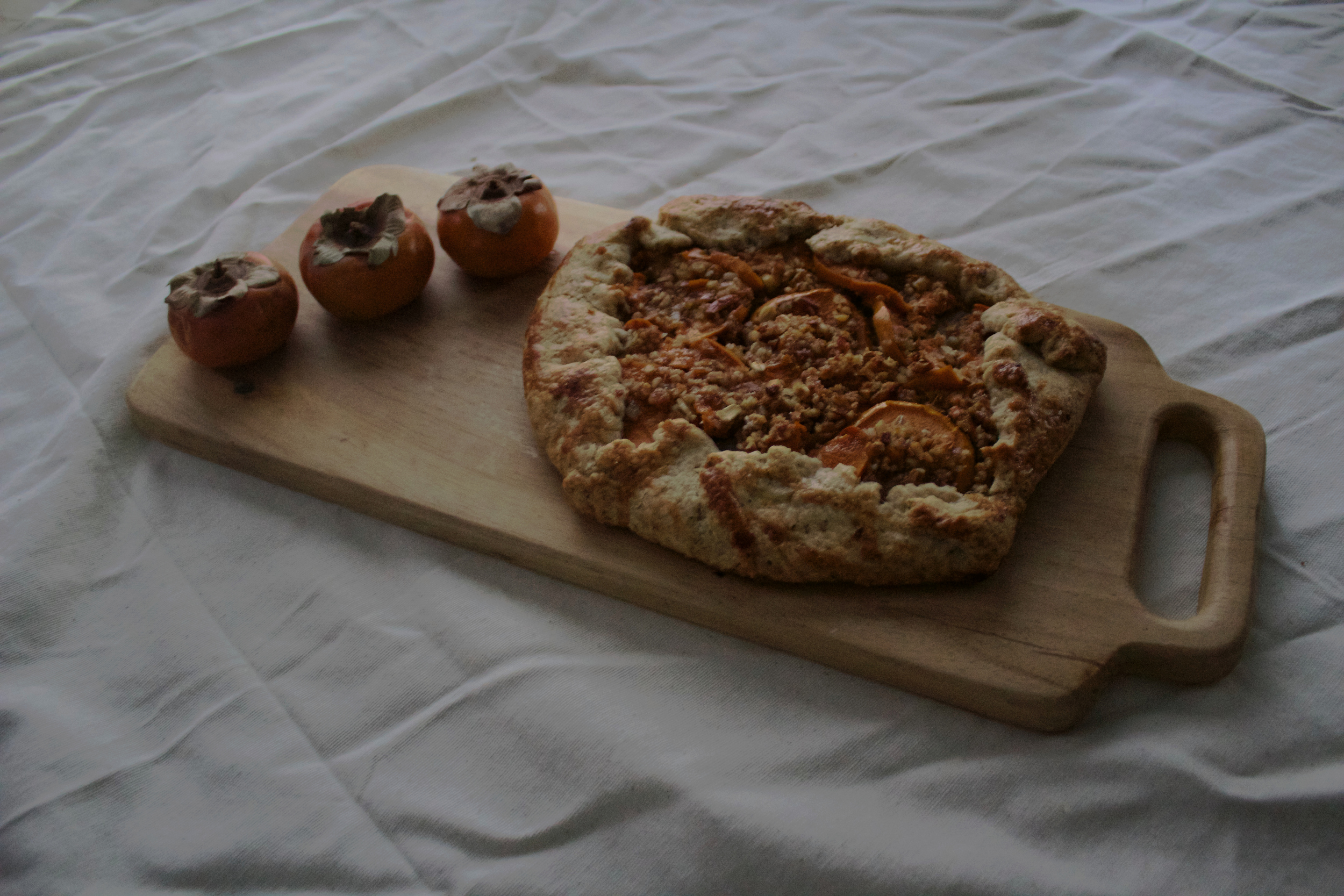 Persimmons and Rosemary Galette