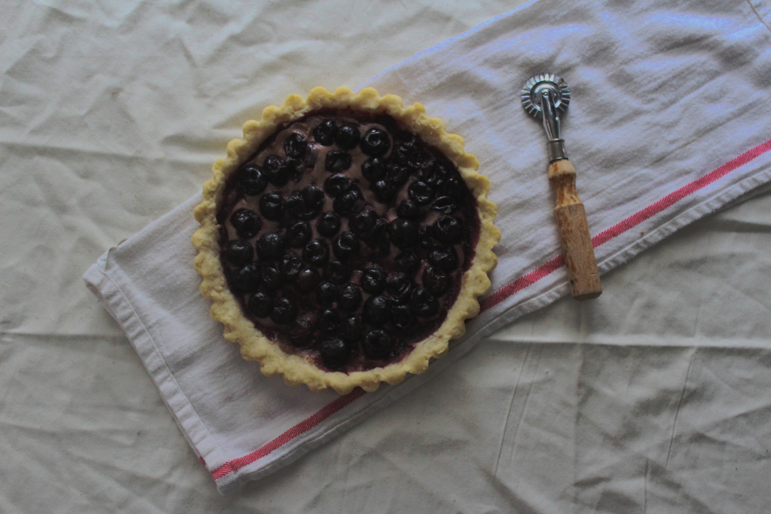Balsamic Cherry Tart with Frangipane