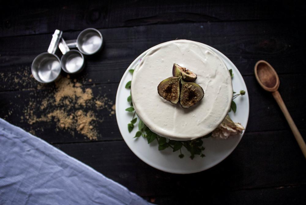 Fig, Oat, Caramel Cake