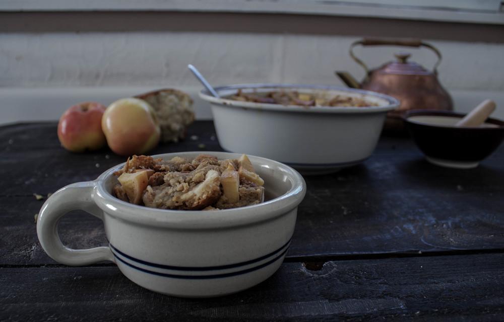 Apple Chai Bread Pudding