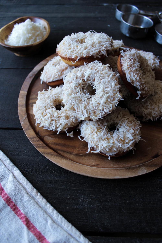 Tahini Coconut Donuts