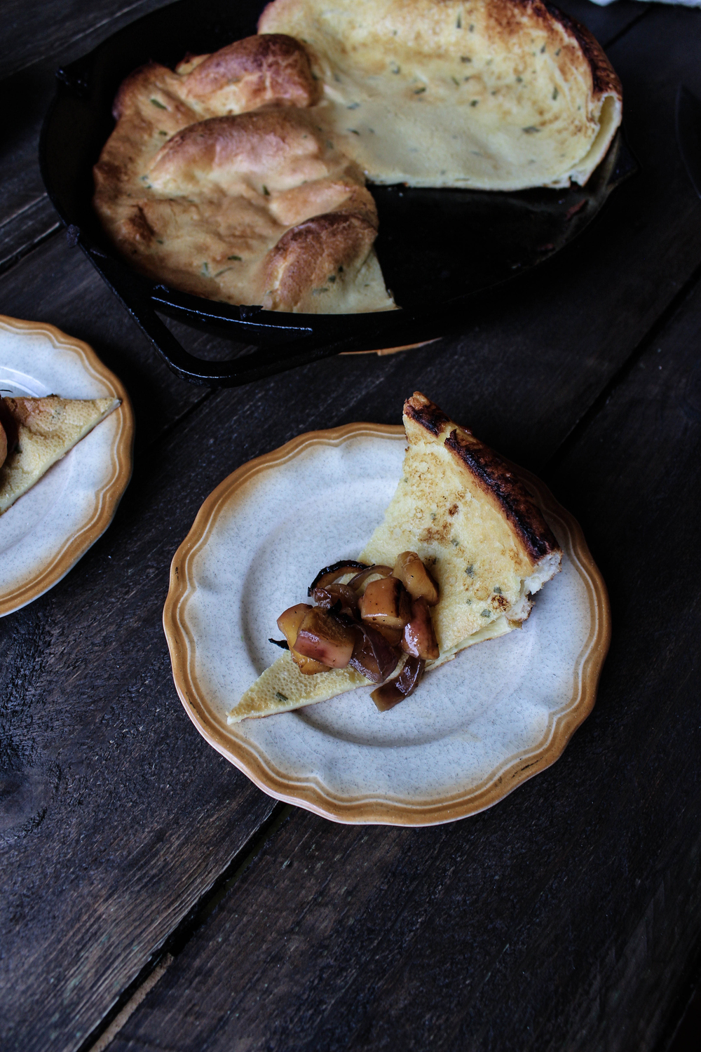 Savory Dutch Baby with Onion-Apple Relish