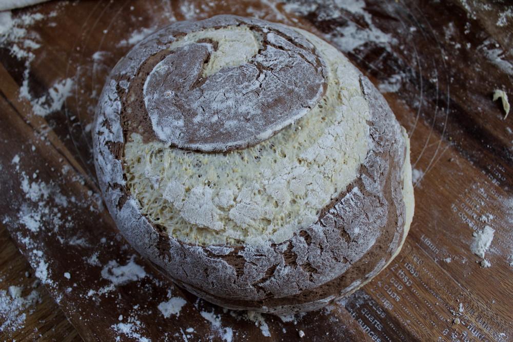 Rye-Cornmeal Boule