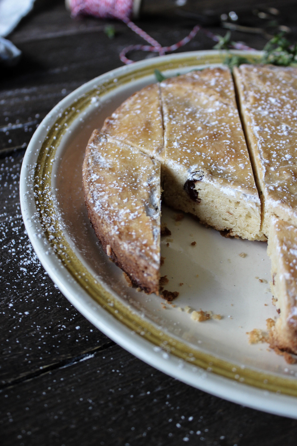 Cultured Butter Gateau Breton with Rum-Soaked Cherries