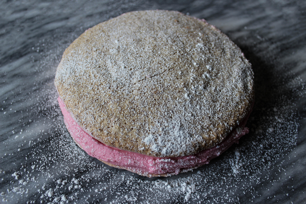 Macaron Cake with Cherry Buttercream