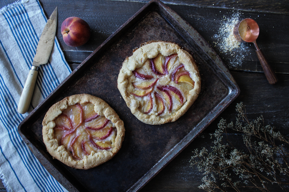 """Peaches and Cream"" Cornmeal Galette"