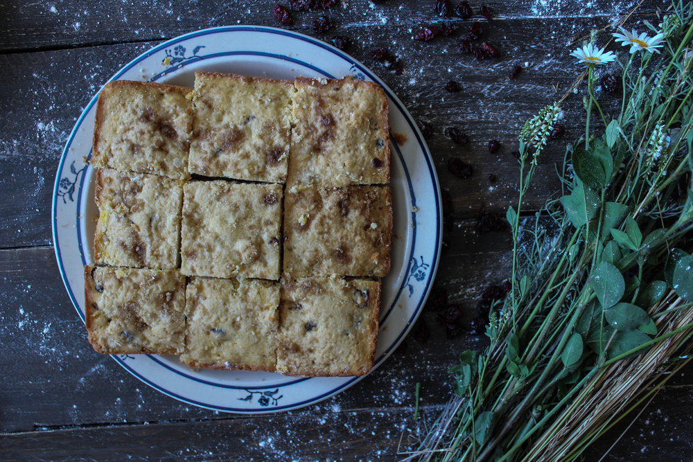 Cherry and Corn Blondies: in partnership with Bob's Red Mill