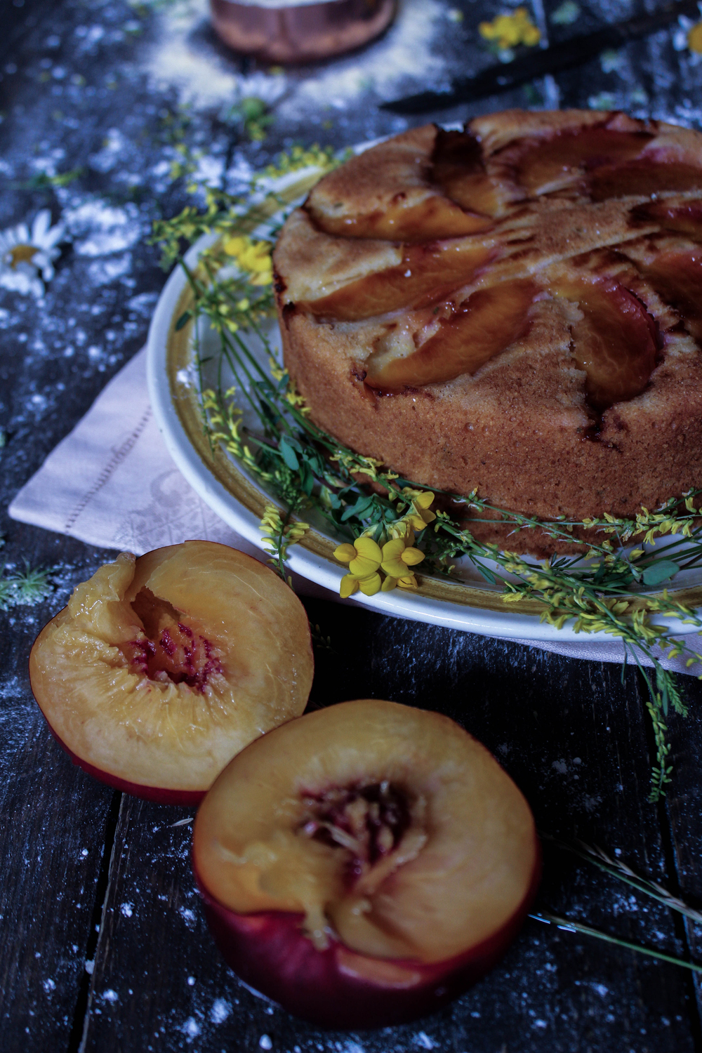 Peach and Cornmeal Cake