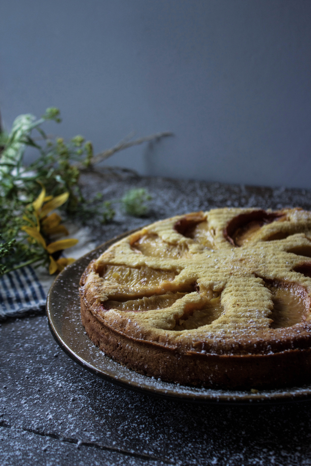 Peach and Ricotta Gateau Breton